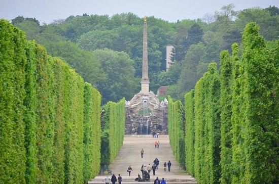 Schloss Schönbrunn: 遠くにオベリスク?樹木の刈り込みが見事