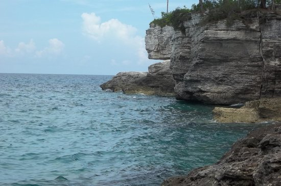 Clifton Heritage National Park: View from the bottom of the slave steps.