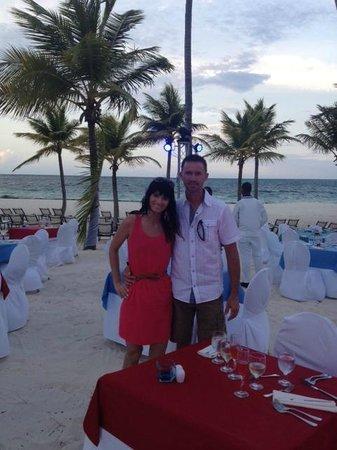 Secrets Royal Beach Punta Cana: Lobster dinner at the beach