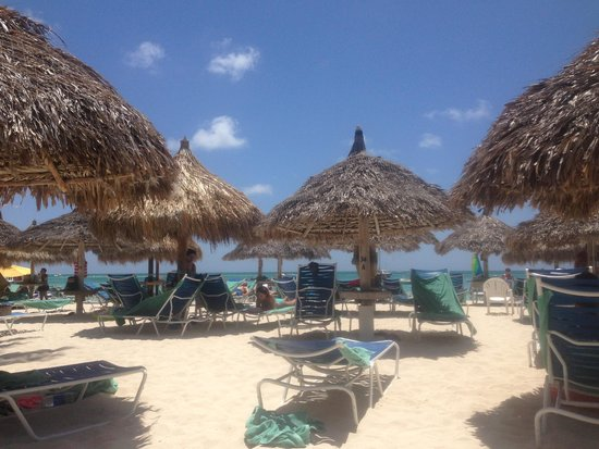 Hyatt Regency Aruba Resort and Casino: our rented beach hut