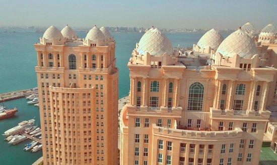 Hilton Doha: View through the window glass
