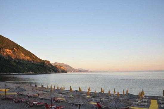 Hotel Poseidon: Vue depuis la terrasse-restaurant