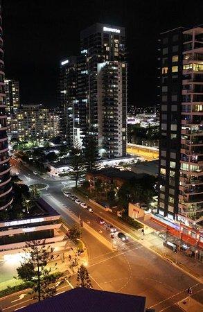 Sofitel Gold Coast Broadbeach: View from balcony at night
