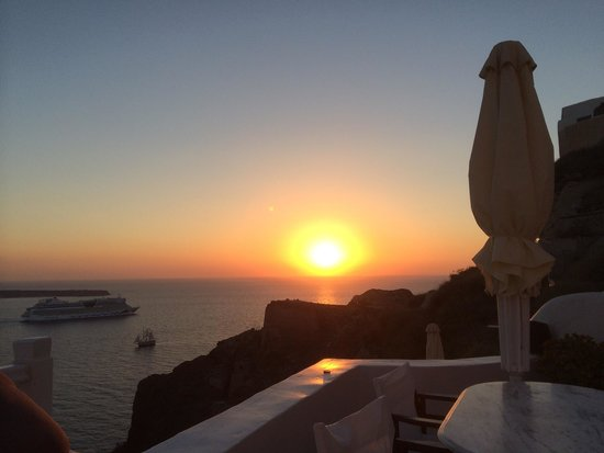 Esperas : Sunset view from private terrace