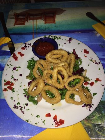 The Blue Lobster: Calamari appetizer