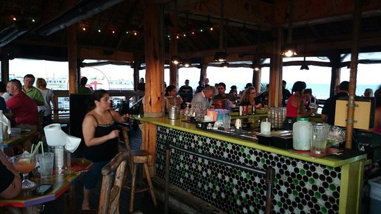 The Spot: The bar upstairs.