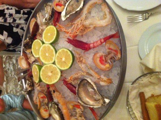 Restaurant Cinque Archi: Portata di crudita'.