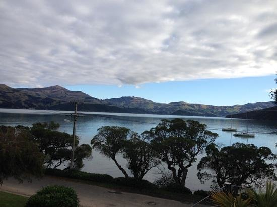 Akaroa on the Beach: the view from the balcony