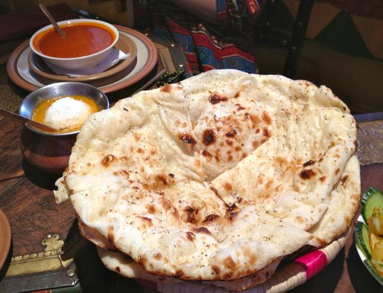 Hazara : basket of four naans.  I almost ate the whole basket.