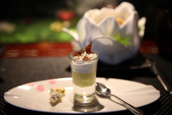 L'Atelier de Joel Robuchon: banana cream dessert
