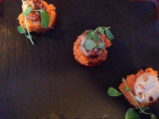 The ALB: Scallops with Chorizo starter! 👍😃