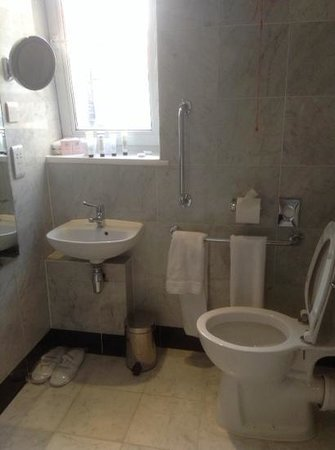 The Mandeville Hotel: bathroom for the handicaped