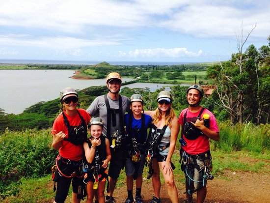 Koloa Zipline: Amazing day swinging through the jungle with fantastic guides, Camille and Jordan. Thanks you gu
