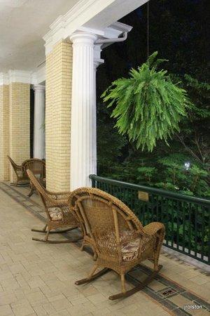 West Baden Springs Hotel: Veranda at Night