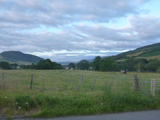 Tramps B & B: View from outside the house towards Loch Ness