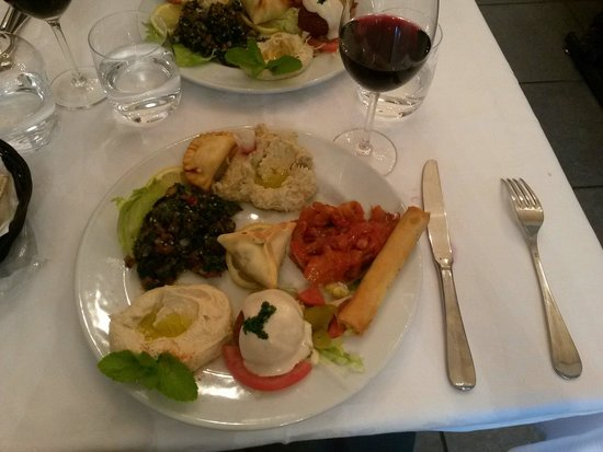 """AL KARMA """"La vigne"""" : Mezzé végétarien"""