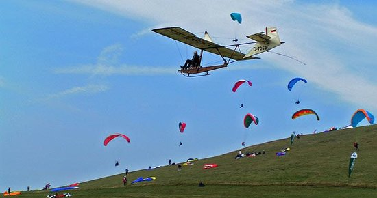 Wasserkuppe Gersfeld: Hang gliders heaven