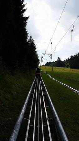 Wasserkuppe Gersfeld: Towed ..Going up