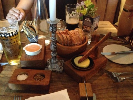 The Hand and Flowers: Complimentary starter