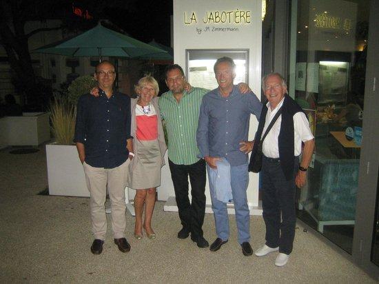 La Jabotiere: Photo prise avec Monsieur ZIMMERMAN à la fin du dîner
