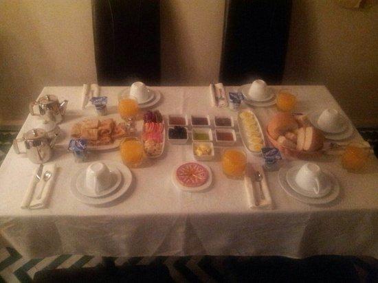 Riad Palau : Un buen desayuno