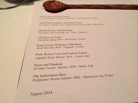 Tasting Menu With Matching Wines Picture Of Attica Ripponlea