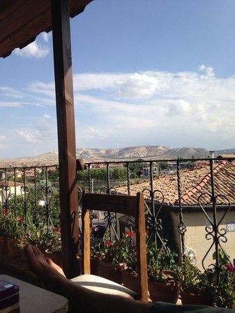 Sofa Hotel: View from common area balcony