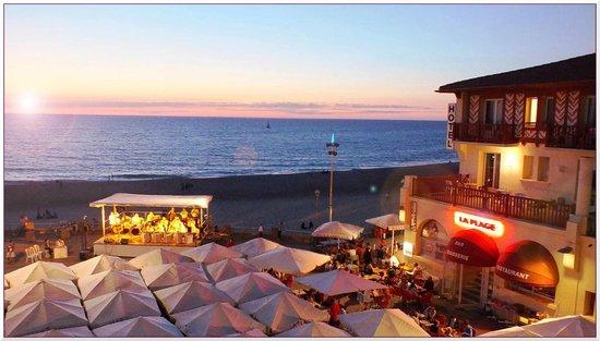 Hotel de La Plage: le coucher de soleil