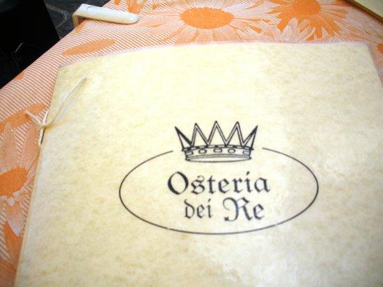 Osteria dei Re : Il menu