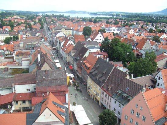 Altstadthotel Zum Hechten: Town of Fussen from Hohen Schloss