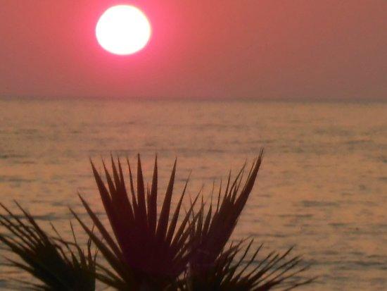 Ephesia Holiday Beach Club: coucher de soleil