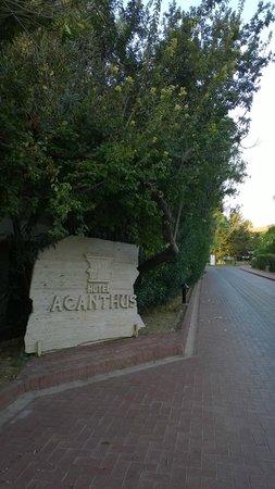 Barut Acanthus & Cennet: Въезд на территорию