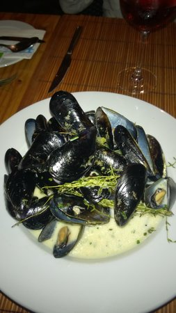 Fresco's Cafe & Restaurant : mussels in white wine sauce