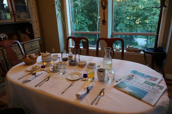 Mt. Woodside Bed & Breakfast: Breakfast