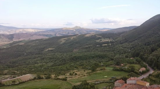Casa Vacanze Campotondo: Vista da Campiglia d'Orcia