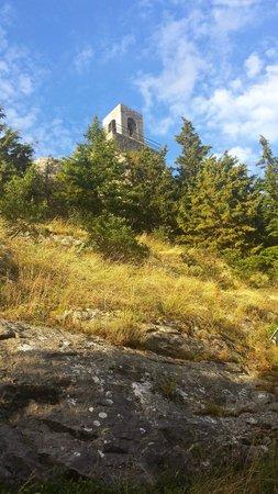 Casa Vacanze Campotondo: Vista della torre campanaria di Campiglia D'Orcia