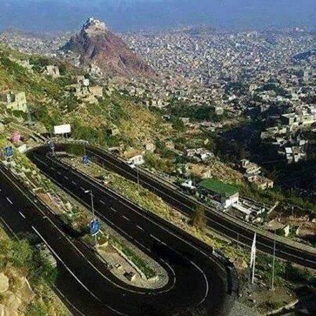 Taiz, Yemen: تعز - منظرعام للمدينة من جبل صبر - توفيق العنتري
