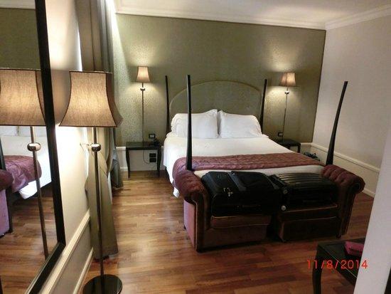 Hotel Milano : Gemütliches Bett mit eng Shui Matratze