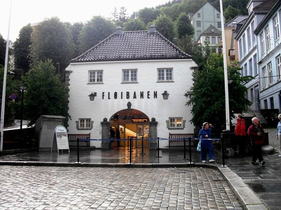 Mount Floyen and the Funicular (Floibanen): Entrance - July 2010