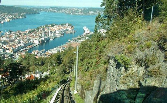 Mount Floyen and the Funicular (Floibanen): Floibanen in the sun! August 2014