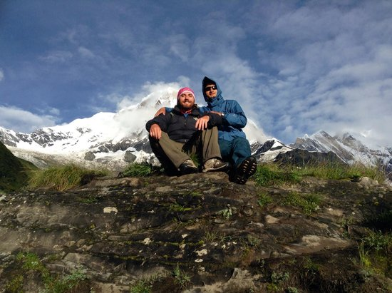Outdoor Himalayan Treks - Private Day Tours: Me and Dilli, enjoying the magnificent mountain views!