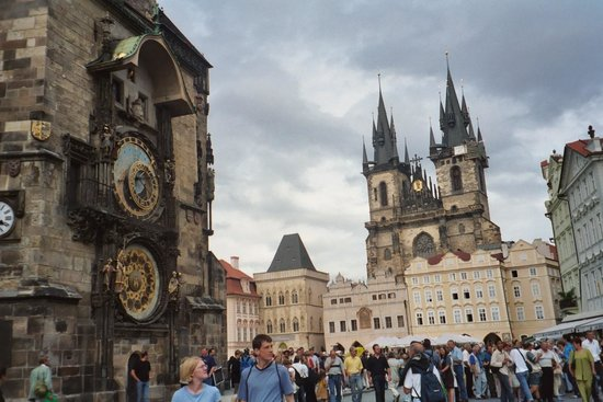 Old Town Square: Tyn Church & Astronomical Clock