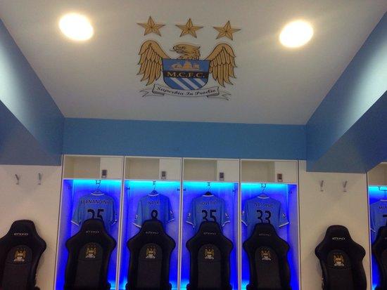 Etihad Stadium: Changing room