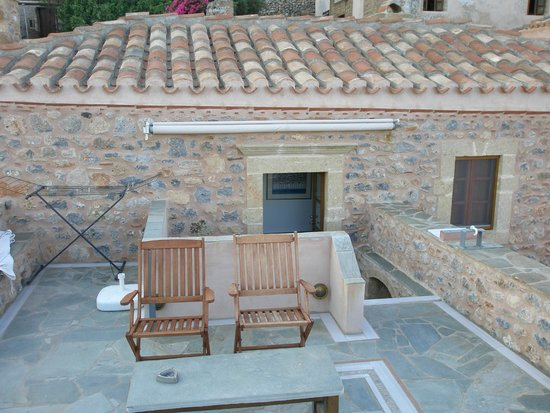 Theophano Art Hotel : ταράτσα με υπέροχη θέα