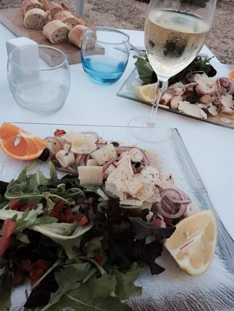 Vista Palace Beach: the octopus salad