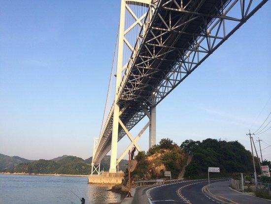 因島大橋の向島側より撮影。橋の...