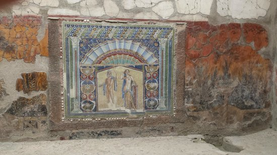 Ruins of Herculaneum: Beautiful mosaics
