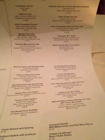 Xaviars On The Hudson : saturday night menu (used groupon)