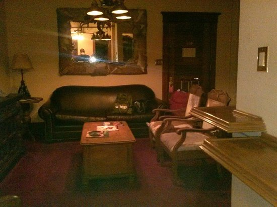 Living room of the Celebrity Suite, Stockyards Hotel 08/04/14
