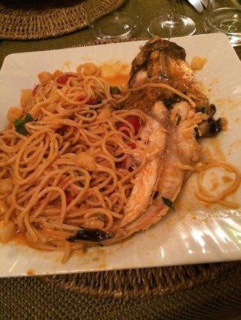 Osteria Torromeo: Ottimi gli spaghetti fatti a mano con la Pescatrice